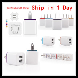 Wholesale Docking Tablet - 2017 New US Plug Travel Charger Double USB Wall Charger AC Adapters Colorful Chargers for iPhone 5S Samsung 5s Note LG Tablet ipad