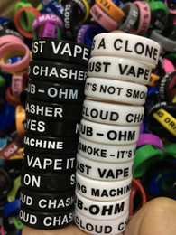 Wholesale Wholesale Customized Rings - Personalized silicone bracelet, 500pcs free customized silicone vape band ring, cheap rubber band 22mm beauty ring e cig