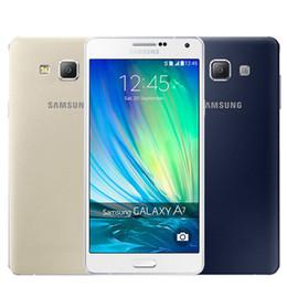 Wholesale 13mp Camera Mobiles - Refurbished Original Samsung Galaxy A7 A7000 Dual SIM 5.5 inch Octa Core 2GB RAM 16GB ROM 13MP Camera 4G LTE Mobile Cellphone DHL 1pcs