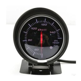 Wholesale Race Car Fuel - Wholesale- Def* BF Gauge Oil Temp Gauge Oil Temperature Gauge Meter 60mm 2.5 Inch With Sensor Red and White Color Car Racing Meter