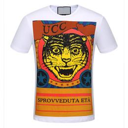 Wholesale Pug T Shirt Xl - Cotton casual pug life mens t shirts top quality fashion tiger head print short sleeve men tshirt men's tee shirts tops men T-shirt