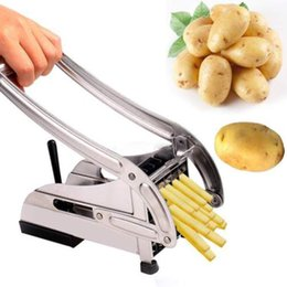 Wholesale French Restaurants - Stainless Steel French Fry Chopper Chips Kitchen Frie Potato Vegetable Fruit Slicer home living or restaurant cooking tool