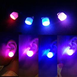 Wholesale Led Flashing Ear Ring - Fashion Flashing LED Earrings Ligthing Ear Rings Boys Girls Dress Decorations Gift Birthday Halloween Glow Party Supplies