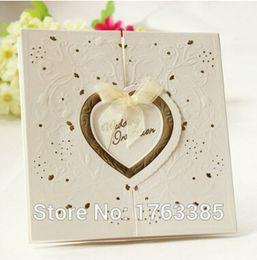 C6021 Heart-to-heart Invitations Korean White Swan Big Gold Knot Wedding Invitations Invitations Wedding Invitations Mail & Shipping Supplies
