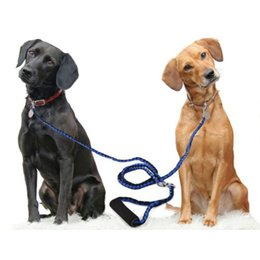 Wholesale Double Braid - Hand-Made Double Dog Leash For Two Dogs125CM Braided Tangle Free Double Dog Leash Coupler For Training Two Dogs