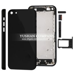Wholesale Iphone 5c Metal Housing - for Iphone 5C Housing Battery Cover Repair Part Cover Middle Frame Metal Jet Black Red White for iPhone 5c
