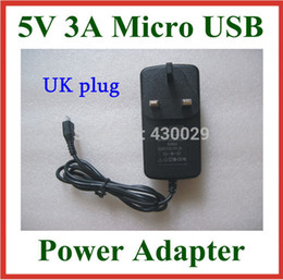 Wholesale Wholesale V972 - Wholesale- UK Plug 5V 3A Micro USB Charger for Tablet Onda V972 V973 V975m V975s V975 V891W X98 Air 3G Power Supply Adapter Real 3A