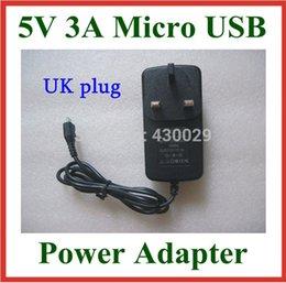 Wholesale Wholesale Onda V972 - Wholesale- UK Plug 5V 3A Micro USB Charger for Tablet Onda V972 V973 V975m V975s V975 V891W X98 Air 3G Power Supply Adapter Real 3A
