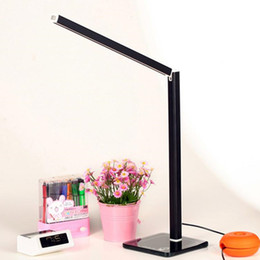 Wholesale Adjustable Reading Light - New Foldable 2835 SMD 38 LEDs Adjustable Desk Lamp Reading Study Light 4 Color Avaliable Eye Production Bedside Table Work Study Lamps