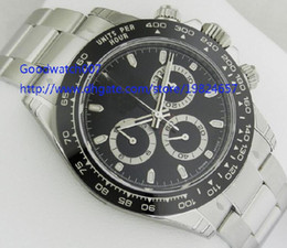 Wholesale Eta Movement Watches - Men's Original Box Papers High Quality 116500 LN Ceramic Bezel Dial RANDOM 40mm ETA 7750 Chronograph Movement Automatic Mens Watch Watches