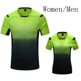 Wholesale Shirt Table - New breathable badminton shirt Quick Dry , Women   Men table tennis shirt team game short sleeve Sportswear T Shirts