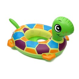 Wholesale Baby Swim Raft - New 10pcs lot tortoise Baby Child Kids Rubber Rings Inflatable Floating Swimming Pool Raft Chair Seat Float Swim Ring