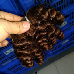 Wholesale Wholesale Hair Extensions Suppliers - 15pcs lot Wholesale bundles deal Natural Brown Human Hair Jerry Curly Extension Fist Lady Top Supplier