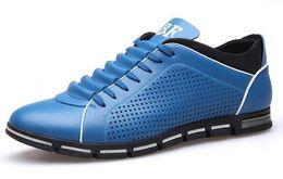 Wholesale Oxford Sandals Shoes - 2017 Summer Latest mens dress shoes Men's black breathable Hollow out Leather shoes for men's Flats Casual leather sandals