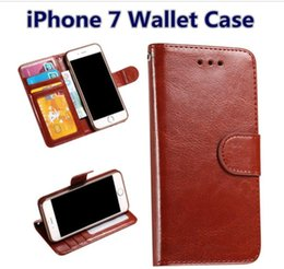 Wholesale Iphone 5s Vintage Cases - For iPhone 8 7 6s 6 plus 5s SE New Luxury Vintage Flip PU Leather Case Wallet Stand Card Slot Cover Money Pocket & Photo Frame Bag