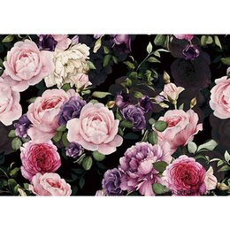 Wholesale Sound Absorbing Materials - TV Background Wallpaper,The Wallpaper of Living Room And Restaurant , Classical 3D Peony Flowers Landscape ,Size ContactCustomer Service