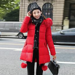 Wholesale Korea Womens Coat - winter jacket women manteau femme 2017 coat parka coats womens jackets and fur jaqueta feminina down Korea parkas for casaco new