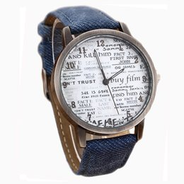 Wholesale Vintage Brass Buckle - Wholesale- New Arrival Vintage Style Women Men Casual Watch Newspaper Pattern Casual Watch For Women&Men Relojes Feminino Free Shipping