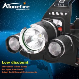 Wholesale Hunting Led Headlight - AloneFire HP03 10000LM CREE XM-L T6 LED Headlamp Headlight Caming Hunting Head Light Lamp+18650 Battery + AC Car Charger+Battery