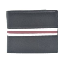 Wholesale Polyester Wallets - New 2017 Luxury brands Blanc Mens Wallets Small Bifold Credit Card PU Leather Travel Purse High quality Wallet for Men Fashion Pocket A086