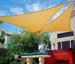2019 poly sonne HDPE UV geschütztes 5 * 5 * 5m Dreieck Sonnenschutz Segelnetze Amnings Baldachin Vormontiertes Seil Kein Werkzeug erforderlich wn080 günstig poly sonne
