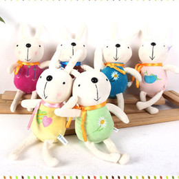 Wholesale Farm Weddings - 1 piece plush toys cute Peter rabbit small plush doll keychain pendant mini Wedding throwing gifts gift wholesale