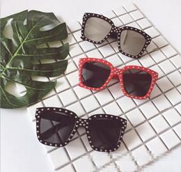 Wholesale Trendy Shades - Kids Boys and Girls Fashion Shinny Sunglasses Shades Google Trendy Girls Designer Sunglasses 2017 Children Teens Frame eyewear sungalsses