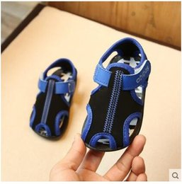 Wholesale Baby Wood - 2017 summer new Korean boy children sandals shoes baby girls toddler shoes children shoes Baotou Beach