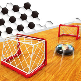 Wholesale Funny Soccer - Kids Sports Toy Funny Air Power Soccer Indoor Fun Football Float Like Magic Soccerball Soccer Goal Post Net Outdoor Playing Toy VE0257