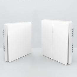 Wholesale Wireless Remote Home Wall Switch - Wholesale-Original Xiaomi Smart home Aqara Smart Light Control ZiGBee Wireless Key switch and Wall Switch Via Smarphone APP Remote Xiaomi