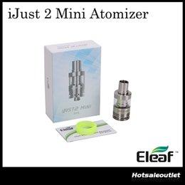 Wholesale Eletronic Cigarettes - Eleaf iSmoka iJust 2 Mini Atomizer 2ml Capacity with EC Series Coils Eletronic Cigarettes Mini Atomizer 100% Original