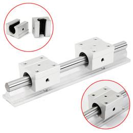 Wholesale Linear Blocks - SBR12-200mm Linear Rail Shaft Rod with 2Pcs SBR12UU Blocks Bearing
