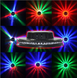 Wholesale Unit Club - Wholesale- Disco Ball Black Auto Rotating 48 LED Disco Ball Dancing Club Stage Lighting Units 1pcs Free Shipping