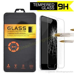 Wholesale Wholesale Crystal Boxes - For iPhone X 7 7S 8 Plus HD Tempered Glass Screen Protector Film with Crystal Box For iPhone 5 6 6S Plus Samsung J7 LG Stylo3 Aristo V3