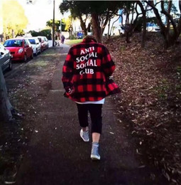 Wholesale Red Plaid Collar - FEAR OF GOD and red tide brand plaid shirt with a shirt for men and women kanye west..