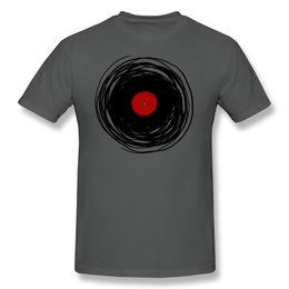 Wholesale Vinyl Dj - Wholesale- Round Neck Unique Spinning With A Vinyl Record - Retro Music DJ men t shirt Cheap Sale Pre-cotton tee shirt for men