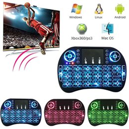 Wholesale Wholesale Gaming Keyboards - Wireless keyboard Rii I8 2.4GHz Backlit Air Mouse pad Multifunction Gaming Keyboard for Android TV Box PC Pad