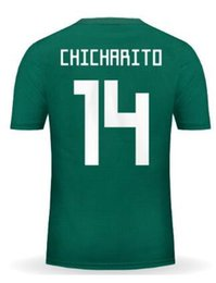 Wholesale Blue Wear - personalized Custom 17-18 mens Mexico Soccer Jerseys,Customized Thai Quality 14 J.Hernandez Chicharito 19 O.Peralta 10 J.Dos Santos wear