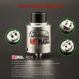 Wholesale Better Design - 100% Authentic Tesla Antman 24 RDA Atomizer Tank SS316 Wire Bottom Design Better Flavor with Large Airflow Holes Electronic Cigarette RDA