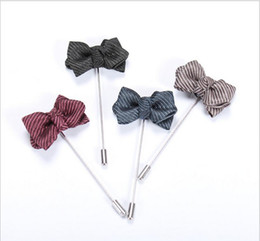 Wholesale Women Suit Wholesale China - Rose Brooch Handmade Boutonniere Stick Brooch Pin Accessories for Men Women Suit Men Lapel Pin Brooches AOP--007