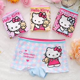 Wholesale Girls Boxers Shorts - 2017 Fashion Cartoon Hello Kitty Mickey Baby Girls Underwear Cotton Panties For Girls Kids Short Briefs Children Boxers Underpants