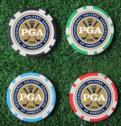 Wholesale Marker Balls - Wholesale- 10EA new design pga golf poker chip ball marker many color 40cm dia 11.5g best seller golf ball marker