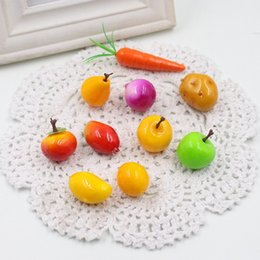 Wholesale Fake Fruit Decoration Kitchen - Wholesale-Hot sale20Pcs Mini Simulation Super Small Apples Foam Plastic Fake Artificial Fruit Model House Party Kitchen Wedding Decoration