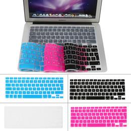 "Wholesale Apple Keyboard Uk - Ultrathin Clear TPU Keyboard Cover Skin for Apple Macbook Pro  Retina 13"" 15"" 17"" UK Version Free Shipping"