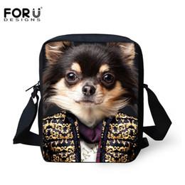 Wholesale Mini Bags For Women - Wholesale-FORUDESIGNS 3D Animal Printed Mini Women Men Messenger Bags Dog Tiger Shoulder Bag for Teenager Girls Sling Bag Satchel for Kids