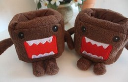 Wholesale Doll Rack - Wholesale- Cartoon Novelty 10CM Approx. Domo Plush Stuffed TOY DOLL , Plush Phone Stand Holder TOY Pouch Case RACK DOLL BOX