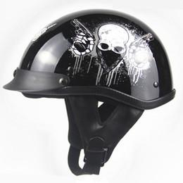Wholesale Skeleton Motorcycle Helmets - 2017 high quality ABS motorcycle helmet for harley teams Vintage motocross open half face helmet Skeleton Casco Capacete M-XXL
