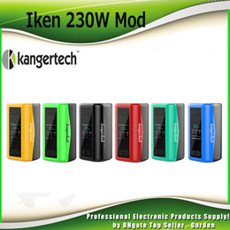 Wholesale E Cigarette Kanger Battery - Original Kanger Iken 230W Box Mod Battery Built 5100mAh Lipo E Cigarette Vape Mods with 1.57inch OLED Display 100% Authentic KangerTech