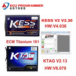 Wholesale Unlimited Free - Wholesale- DHL Free Shipping Best Quality Ktag K-TAG Ecu Programming Tool KTAG V2.13 Master KESS V2 Unlimited Token With ECM TITANIUM V1.61