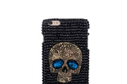 Wholesale Case Iphone 4s Skull - 30PCS For iphone 7 7plus 6s 6splus 6 6plus 5s 4s Skull head Rhinestone phone case phone battery cover